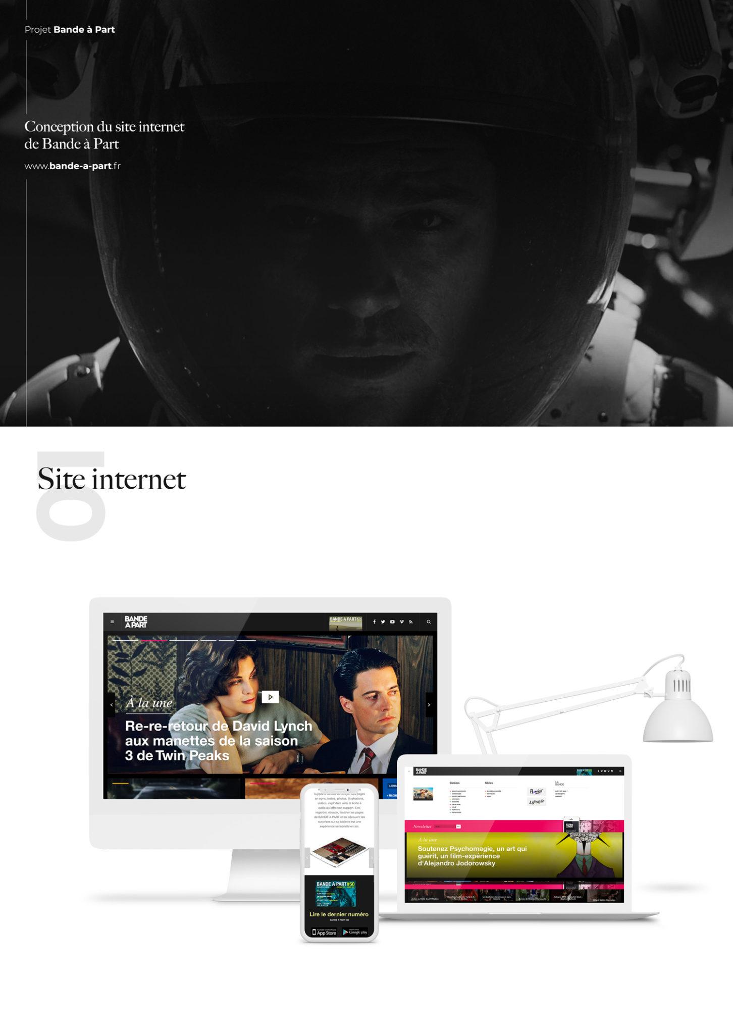 e18aa247ceb Conception et réalisation du site internet de Bande à part